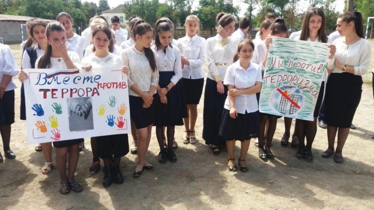 Акция «Вместе против террора» прошла в Магарамкентском районе