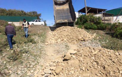 Продолжаются работы по благоустройству СП «село Гапцах»